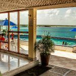 Hotels in front of Bacalar Lagoon